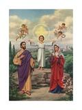 Calendar Illustration of the Holy Family Wydruk giclee