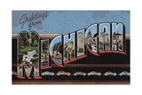 Greetings from Michigan Postcard Giclee Print