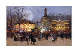 La Fete, Place De La Republique, Paris Giclee Print by Eugene Galien-Laloue