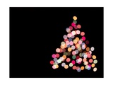 Multicolored Lights on Christmas Tree Giclee Print