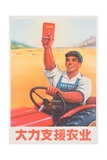 Give Energetic Support to Agriculture Chinese Poster Giclee Print