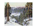 Pines in Winter Giclee Print by George Gardner Symons