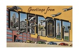 Greetings from Detroit Postcard Giclee Print