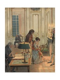 Illustration of Napoleon Bidding Josephine Farewell Giclee Print by Jacques Onfroy de Breville