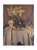 The Table, Purple Harmony Gicléetryck av Henri Le Sidaner
