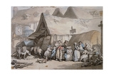 Honiton, Devon: Shoes and Hats for Sale Outside the Lion Inn Giclee Print by Thomas Rowlandson