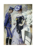 Flirtation Giclee Print by Oscar Bluhm