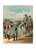 Illustration of the British Surrendering to George Washington at Yorktown Giclee Print