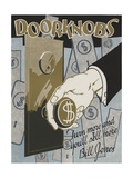 Doorknobs Motivational Poster Giclee Print