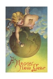 A Happy New Year Postcard Giclee Print