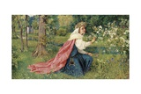 Matilda - Dante, Purgatorio, Canto 28 Giclee Print by George Dunlop Leslie