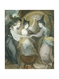 The Duchess of Devonshire, Lady Melbourne and Mrs Dawson Damer as the Three Witches from Macbeth Giclee Print by Daniel Gardner