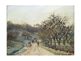 Orchard Near D'Osny Giclee Print by Camille Pissarro