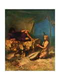 Illustration of David Playing Lyre for King Saul Giclee Print by W.L. Taylor