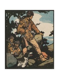 Illustration of Daniel Boone Blazing a Trail Giclee Print by J.L. Kraemer