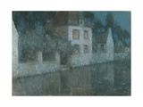 Le Canal at Nemours Giclee Print by Henri Le Sidaner