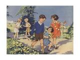 Dandelions Book Illustration Giclee Print