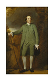 Portrait of George Morewood, Standing Full Length, in a Green Coat, Waistcoat and Breeches Giclee Print by George Romney