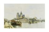 La Quai De La Tournelle, Paris Giclee Print by C.T. Guillermot