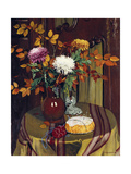 Chrysanthemums and Autumn Foilage Giclee Print by Félix Vallotton