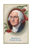 Washington's Birthday Greetings Postcard Giclee Print