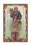 Hurrah for the Fourth of July Postcard Giclee Print