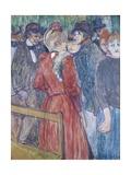 At the Moulin De La Galette Giclee Print by Henri de Toulouse-Lautrec