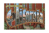 Greetings from California Postcard Giclee Print