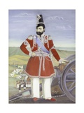 Portrait of Muhammad Shah Giclee Print by Muhammad Hasan Afshar