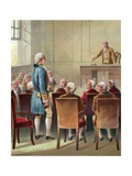 Illustration of George Washington Being Chosen as Commander in Chief Giclee Print