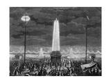 Fetes Et Illuminations Aux Champs Elysees, Le 18 Juillet 1790 Giclee Print by Pierre Gabriel Berthault