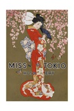 Miss Tokio Hosiery Illustration Giclee Print
