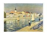 Anglers at Chaume Giclée-trykk av Albert Marquet