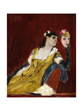 Woman with a Mask Giclee Print by Felicien Rops
