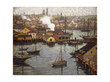View from Banner Hill, East Gloucester Giclee Print by Jonas Lie