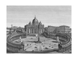 St. Peter's Square and Basilica Giclee Print