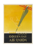 Air Union 1920s Travel Poster Paris London Golden Ray Giclee Print