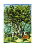 Landscape Giclee Print by Moise Kisling
