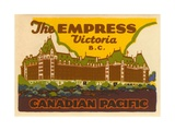The Empress Luggage Label Giclee Print