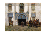 The Palace Guard Giclee Print by Alberto Pasini