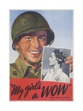 My Girl's a Wow Poster Giclee Print by Adolph Treidler
