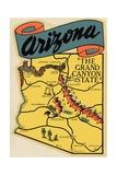 Arizona Travel Decal Giclee Print