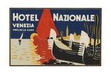 Hotel Nazionale Venezia Luggage Label Giclee Print