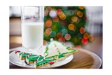 Milk and Christmas Cookies Giclee Print
