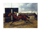 The Jockey Club Stakes, October 1st, 1903: 'Sceptre' Beating 'Rocksand' Giclee Print by Geoffrey Douglas Giles