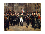 The Farewells of Fontainebleau, April 20, 1814 Giclée-Druck von Horace Vernet