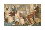 Household Harmonies Giclee Print by Randolph Caldecott