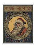 Illustration of Santa Claus Giclee Print by Norman Price