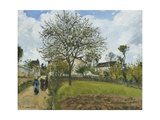 Landscape in Louveciennes Giclee Print by Camille Pissarro