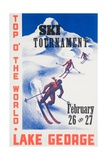 Ski Tournament Lake George Giclee Print